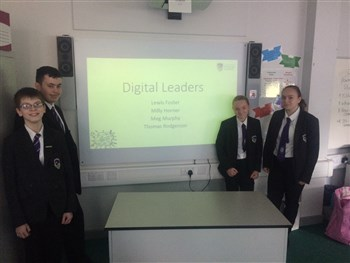 Digital Leaders visit Town End Academy