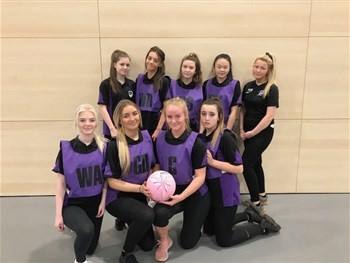 Year 10 Netball in the Durham County Schools netball tournament.